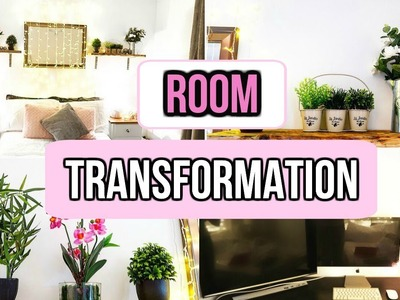 ROOM TRANSFORMATION 2017 | DECORATE MY BEDROOM WITH ME | MAKEOVER TIMELAPSE | DIY IDEAS | Monica Joy