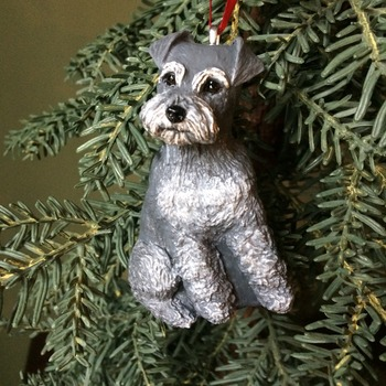 Schnauzer puppy ~ Handmade/Hand Painted Ornament ~ 3D Design
