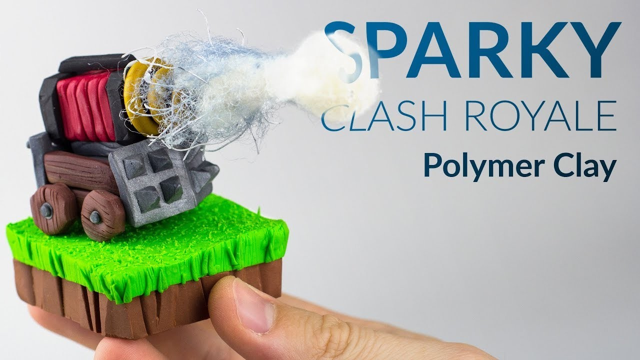 Sparky (Clash Royale) – Polymer Clay Tutorial