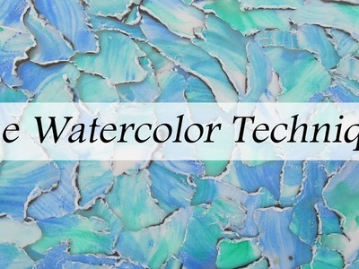 The Polymer Clay Watercolor Technique
