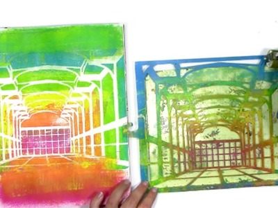 The Rainbow Room & How to Use Stencils on a Gel Plate