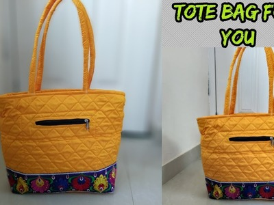 Tote bag make at home.cutting and sewing.how to make tote bag at home.