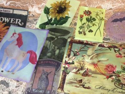 Wax dipped Photos. Vintage DIY Ephemera for Junk Journals. Encaustic Art| I'm A Cool Mom