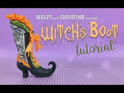 Witch's Boot in Polymer clay Tutorial