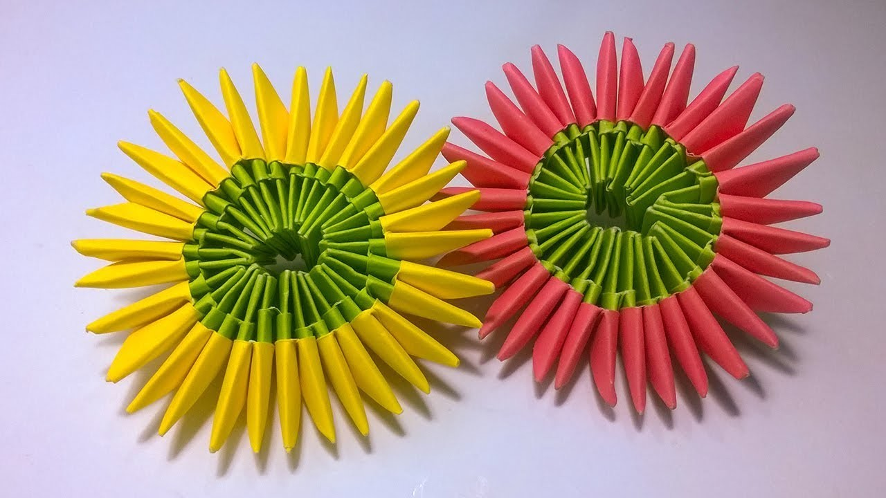 3d Origami Lotus Flower Tutorial Simple And Easy To