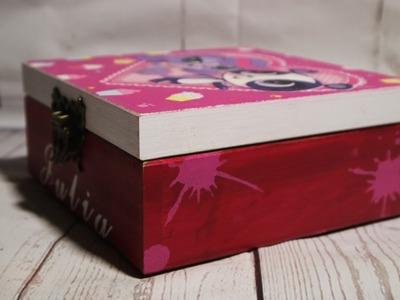 #40. DECOUPAGE BOX FOR GIRL. PUDEŁKO DLA DZIEWCZYNKI. TUTORIAL DIY. DECOUPAGE. BOX