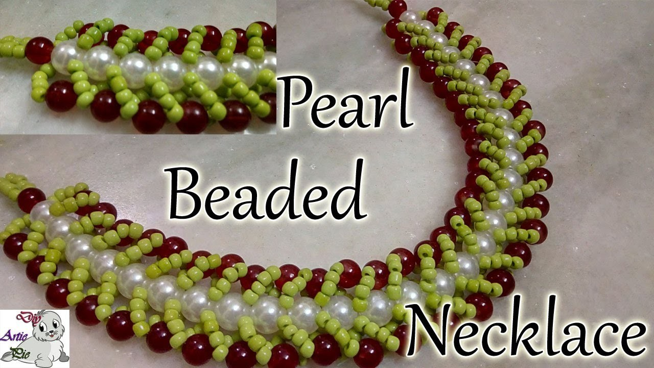 #42 How to Make Pearl Beaded Choker Necklace || Diy || Jewellery Making