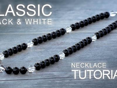 Classic Black & White Necklace - Gemstone Beading. Jewelry Making Tutorial