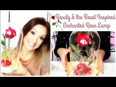 Disney's Beauty & the Beast Inspired Enchanted Rose Lamp | DIY Tutorial