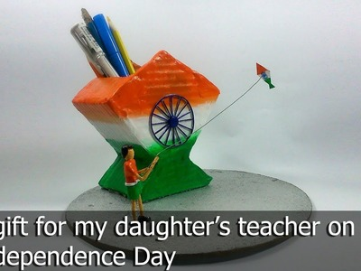 DIY A pen-stand for Independence day.
