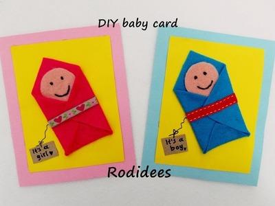 DIY baby card