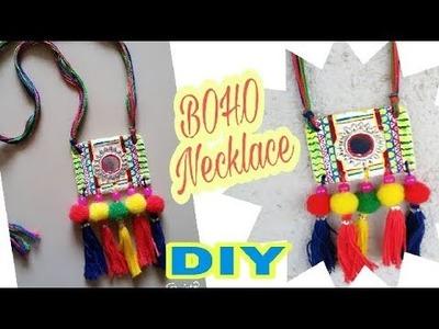 DIY Beautiful Boho Necklace.Navratri dandiya Necklace.Tassel Necklace