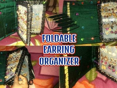 DIY Easy earring organizer