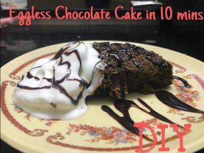 DIY | Eggless Chocolate Cake in 10 mins | Bhavini purohit