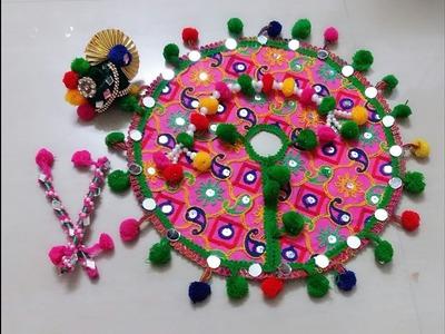 DIY Gujrati Style Chaniya Choli with dandiya & pagh for Laddu Gopal. Bal Gopal .  Navratri Special