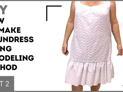 DIY: How to make a sundress using modeling method. Cutting and stitching. Sewing tutorial. Part 2.