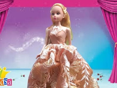 DIY How To Make A Wedding Dress For Barbie Doll. May Đồ Búp Bê: Tổng Hợp May Váy Cưới Cho Búp Bê