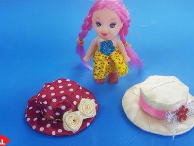 DIY How to make hats for dolls|Cách làm mũ cho búp bê