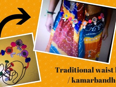 DIY Kamarbandh. Traditional waist belt easy and affordable