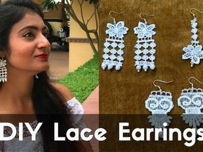 DIY Lace Earrings | Make Lace Earrings at Home by Live Creative