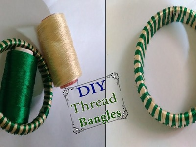 DIY | Make A  Latest ZigZag design silk thread bangles || Simple Bangles