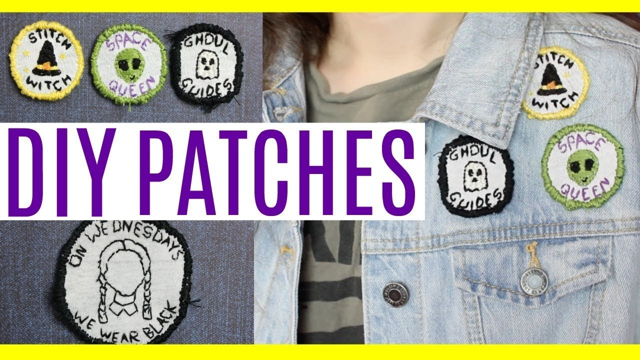 DIY Patches using stuff you already have! Perfect for jeans.jackets!