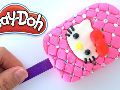DIY Play-Doh Learn Make Pink Hello kitty Jewelry Ice Cream Toy Soda
