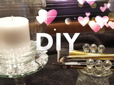 DOLLAR TREE 2 DIY'S IN 1 VIDEO!!! ll  CANDLE HOLDER AND DOUBLE SIDED BRUSH HOLDER