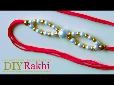 Easy pearl Rakhi making for rakshabandhan | Handmade pearl rakhi design