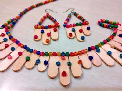 Easy way to make handmade jewellery with ice cream sticks