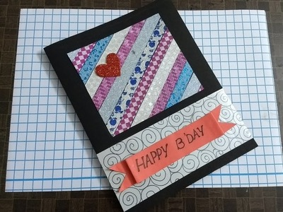 Handmade birthday Card for special friend using washy tapes ( easy and simple)