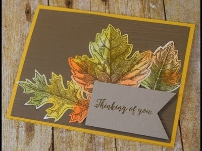 Handmade Fall Cards with Sponged Die Cut Leaves ~ Perfect for Autumn