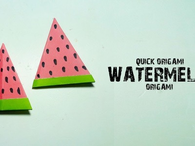 How to Make a Paper Watermelon–Origami Watermelon for Kids–Easy Origami Fruit Tutorial–DIY