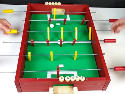 How to Make a Table Football   Soccer Table  