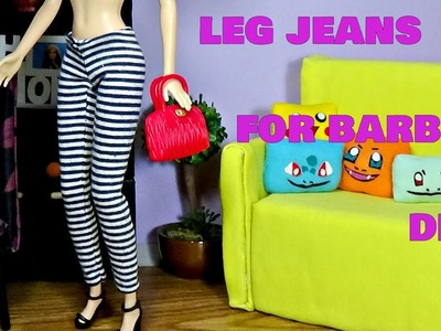 How to make clothes for Barbie │ Leg jeans for Barbie │  DIY For Dolls