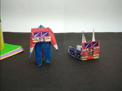 How to make OPTIMUS PRIME origami(transformer)
