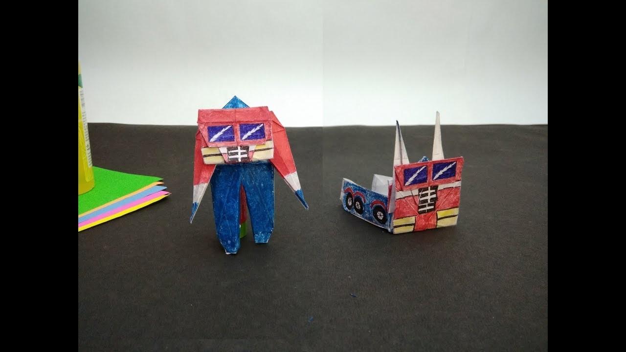 How to make OPTIMUS PRIME origami(transformer)