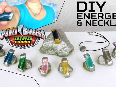 How to make POWER RANGERS DINO CHARGE ENERGEMS and NECKLACE DIY!
