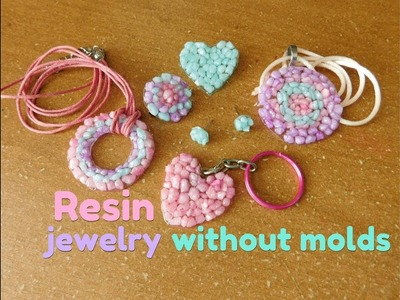 How to make resin jewelry without molds - joyería con resina sin moldes