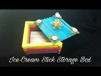 Ice-cream Stick Storage Box (DIY)