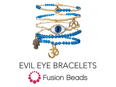 Learn how to make the Evil Eye Bracelets by Fusion Beads