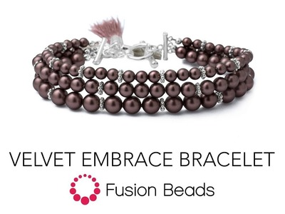 Learn how to make the Velvet Embrace Bracelet by Fusion Beads