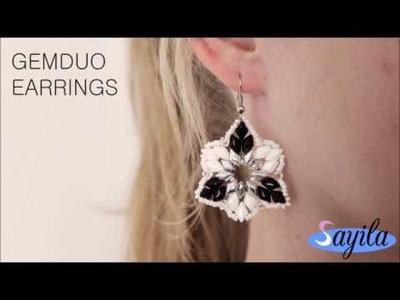 Making jewelry - Gemduo earrings (DIY Tutorial by Sayila)