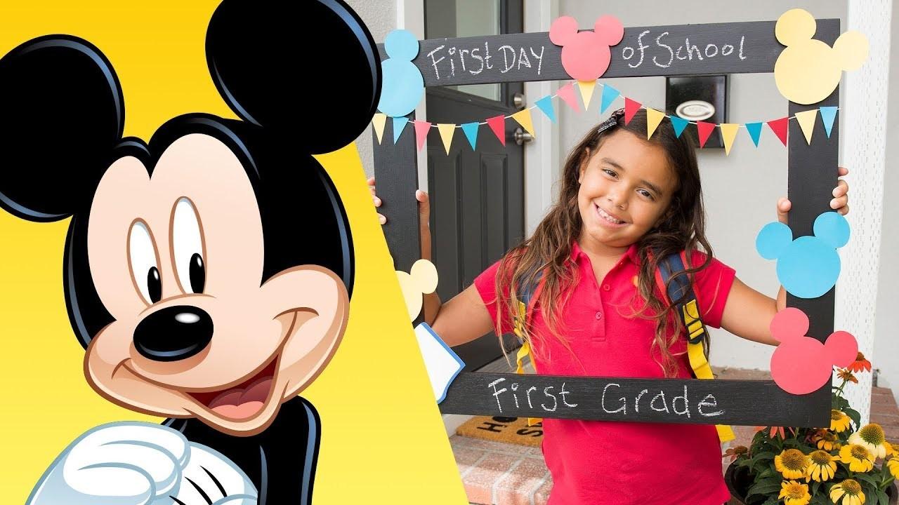 Mickey First Day of School Frame   Disney DIY   Disney Family