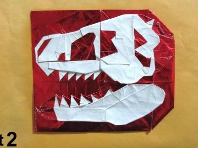 Origami A Skull of a Dinosaur tutorial (Kikuchi Masato) part 2 折り紙 恐竜頭骨 Ein Schädel Dinosauriers