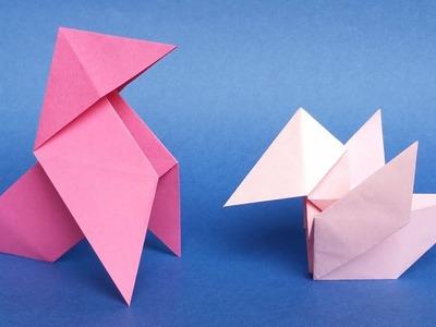 """Origami Bird """"Baby Pajarita"""" Tutorial - Original Model"""