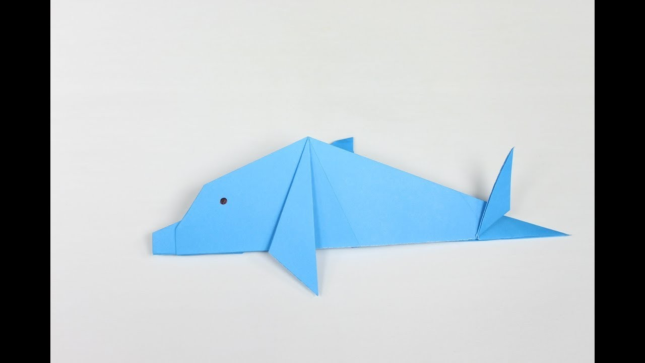 origami dolphin how to make an easy origami dolphin step
