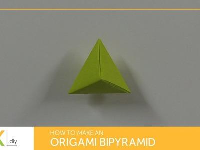 Origami toys #59 - How to make an origami trigonal bipyramid