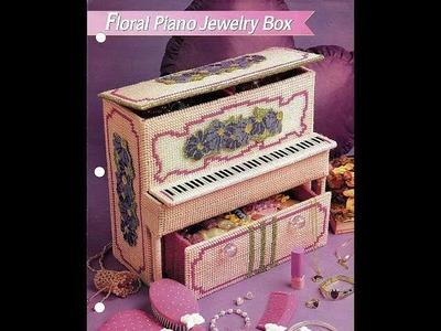 Piano Jewelry Box Part 1 Plastic Canvas