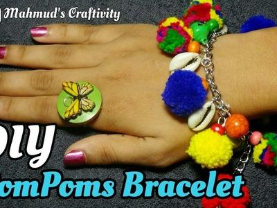 PomPoms Bracelet || DIY || Handmade Trendy Jewelery